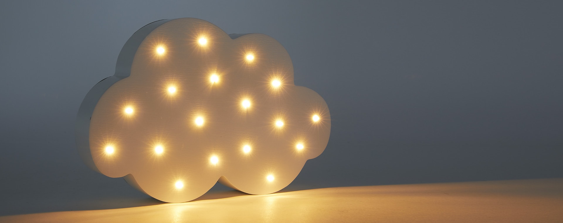 White Jabadabado LED Cloud Lamp