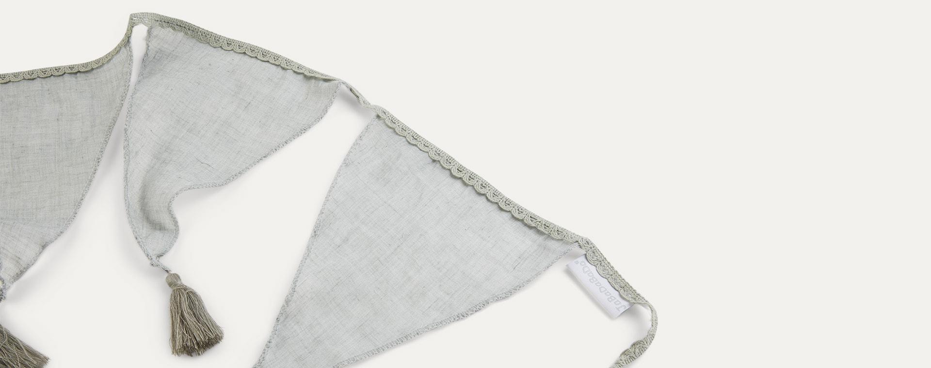 Grey Jabadabado Textile Bunting