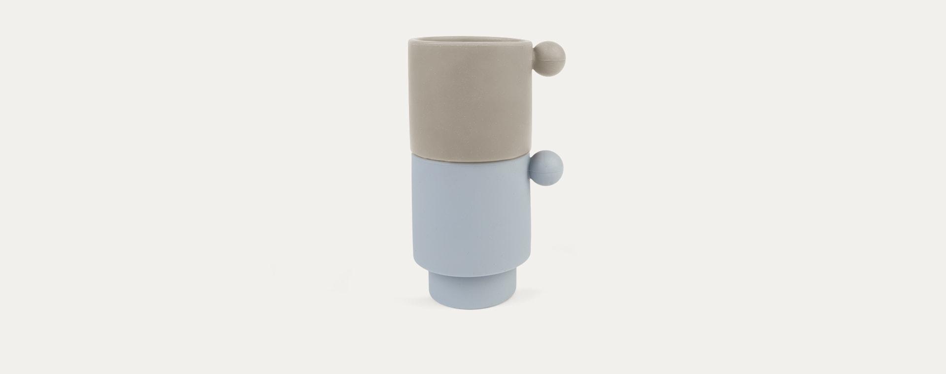 Dusty Blue/Clay OYOY Tiny Inka Cup Set of 2