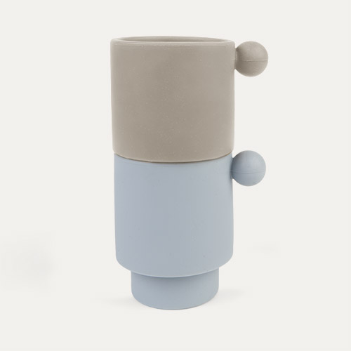 Dusty Blue/Clay OYOY Tiny Inka Cup Set of 2