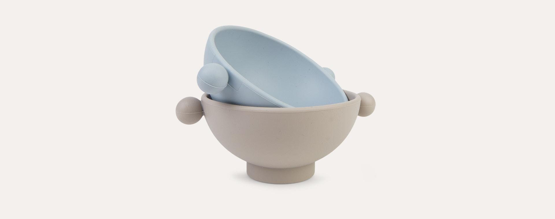 Dusty Blue/Clay OYOY Tiny Inka Bowl Set of 2