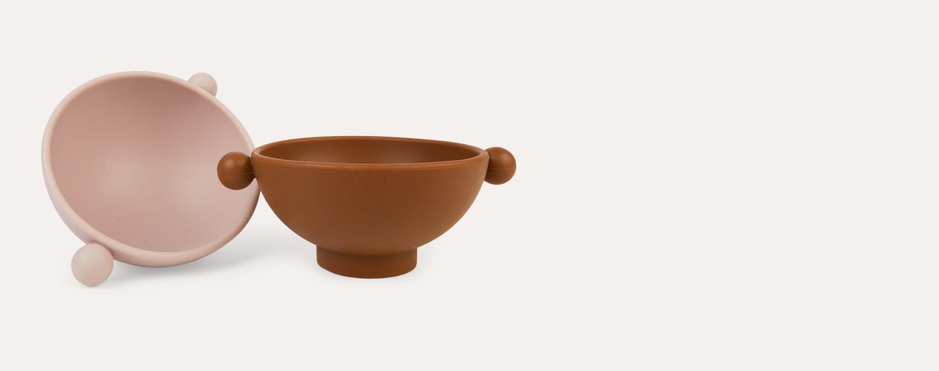 Caramel/Rose OYOY Tiny Inka Bowl Set of 2