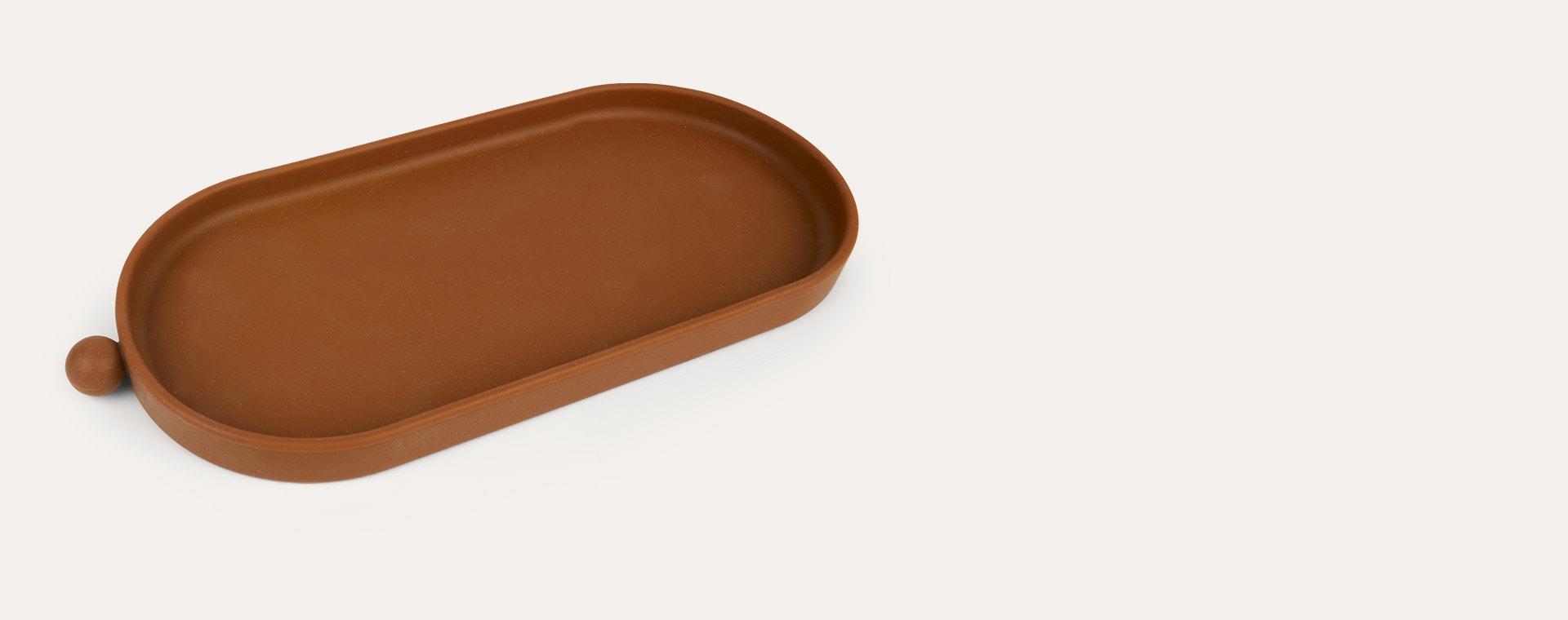 Caramel OYOY Tiny Inka Tray
