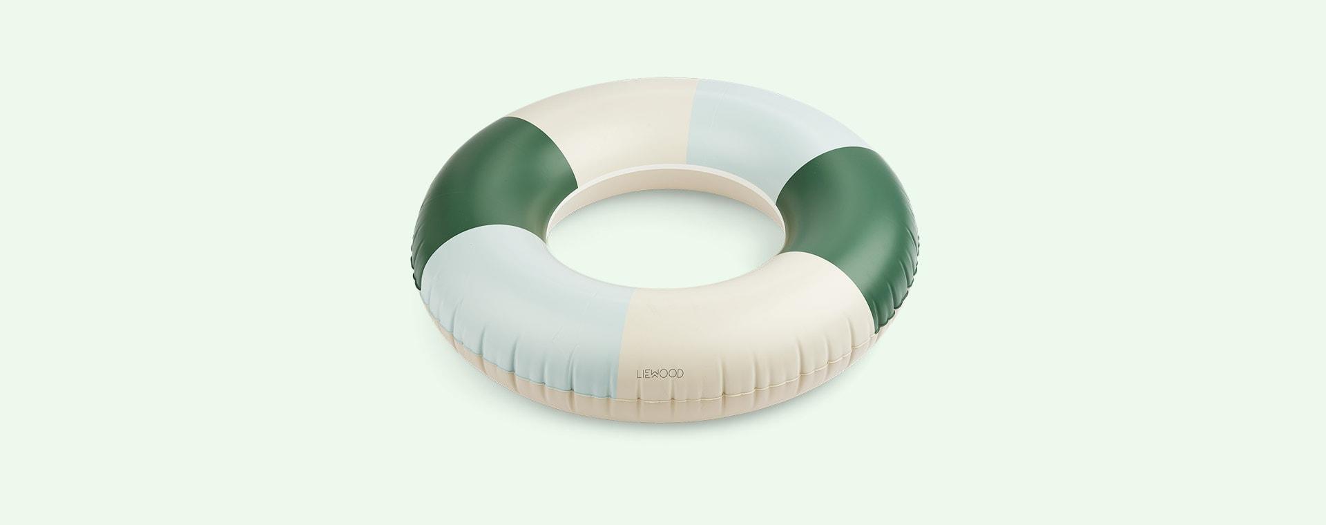 Stripe Garden Green/ Sandy/ Dove Blue Liewood Donna Swim Ring