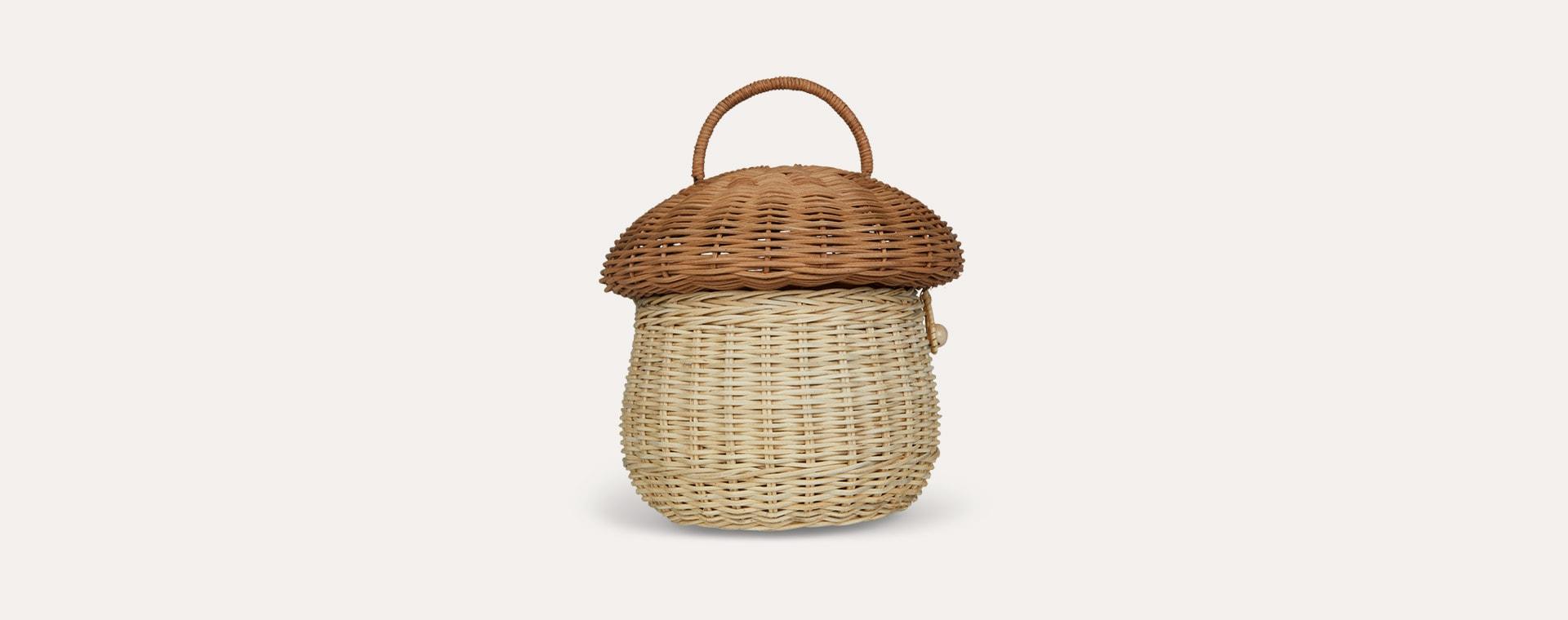 Neutral Olli Ella Mushroom Basket
