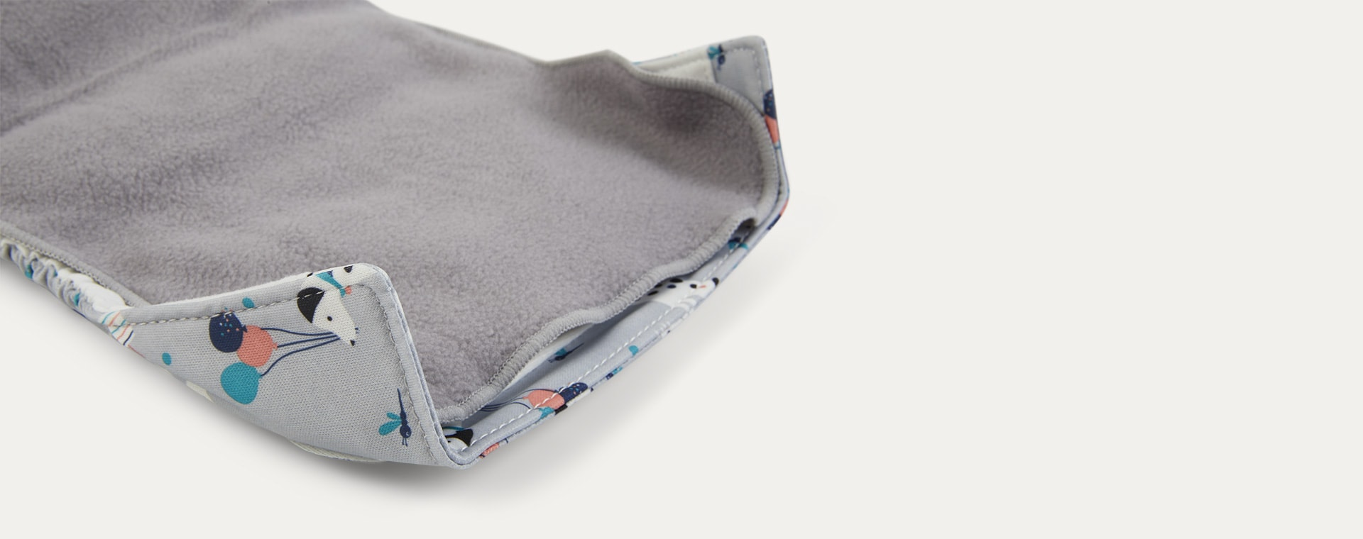Grey Bambino Mio Reusable Nappy Liners 8 Pack