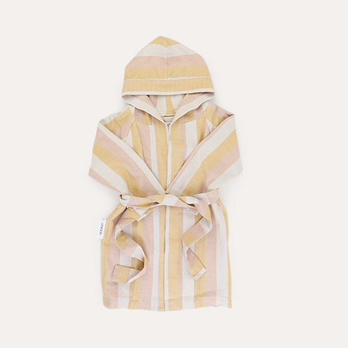 Peach/sandy/yellow mellow Liewood Dana bathrobe