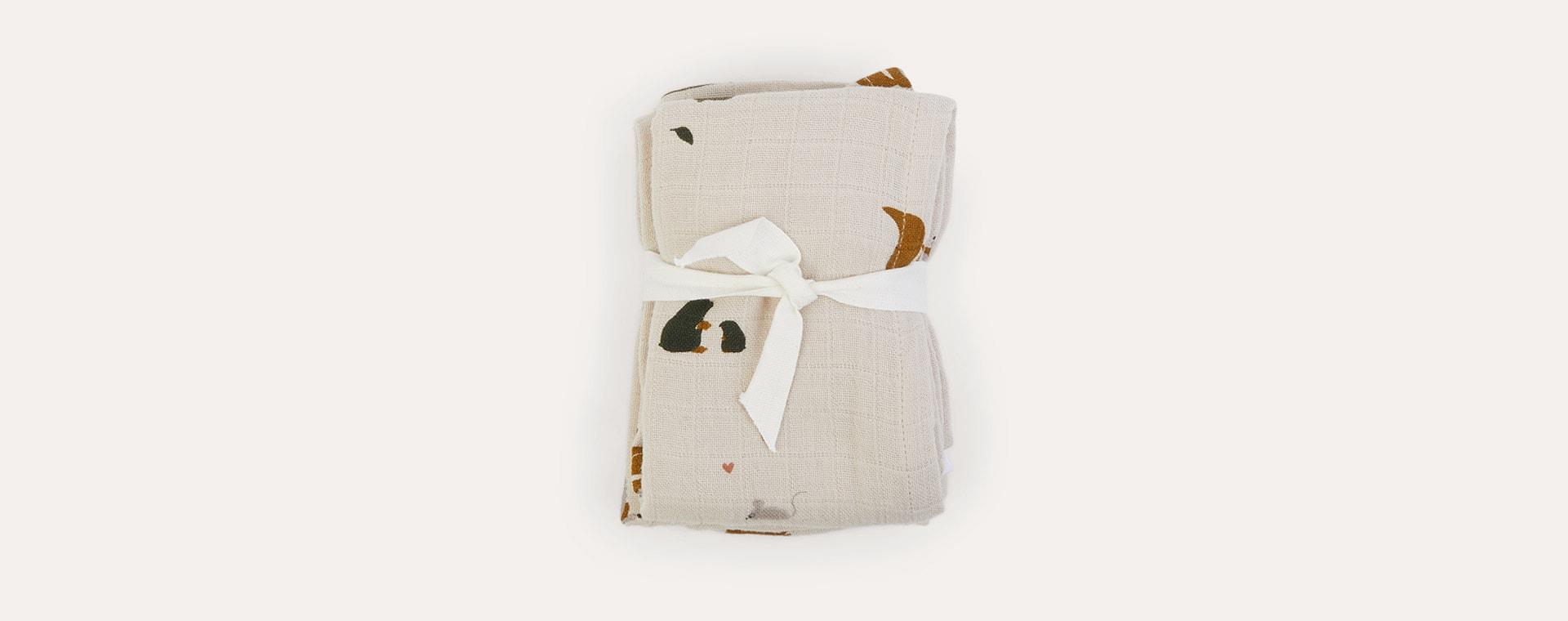Friendship Sandy Mix Liewood 2-Pack Lewis Muslin Cloth