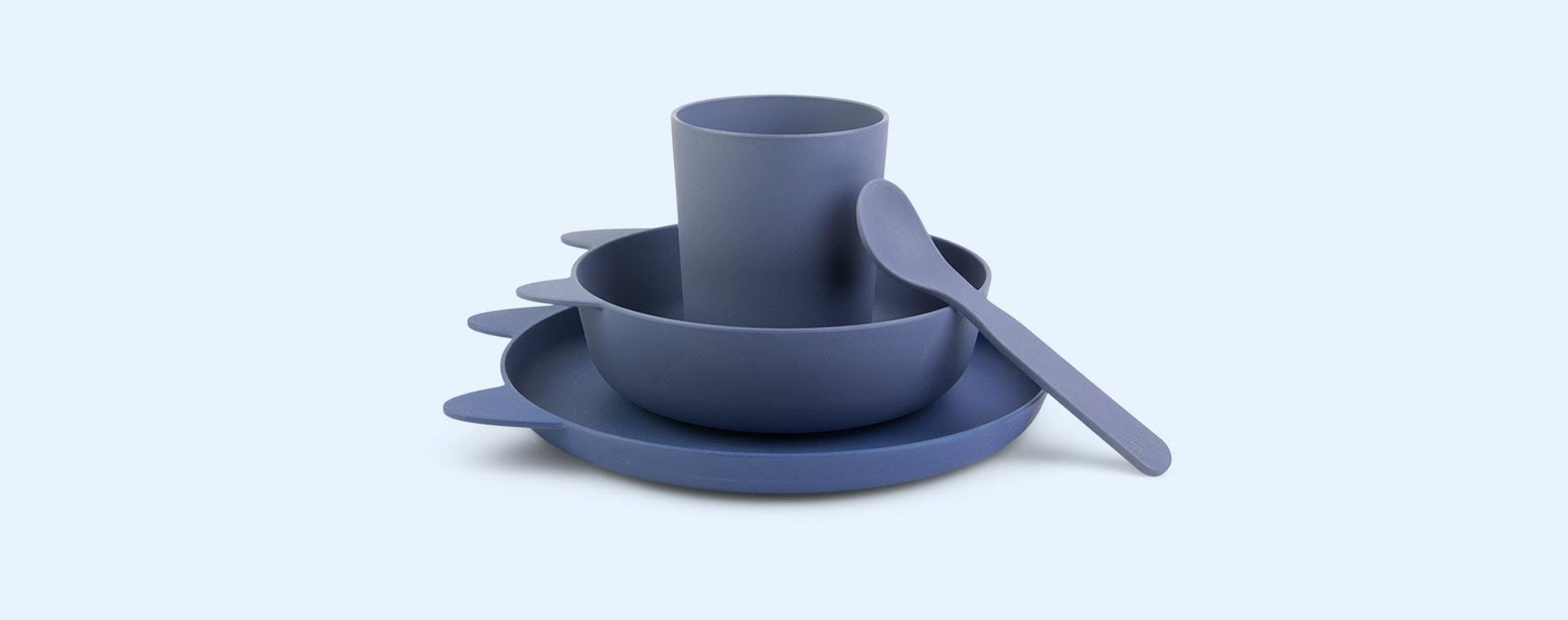 Rabbit blue wave Liewood Paul Tableware Set