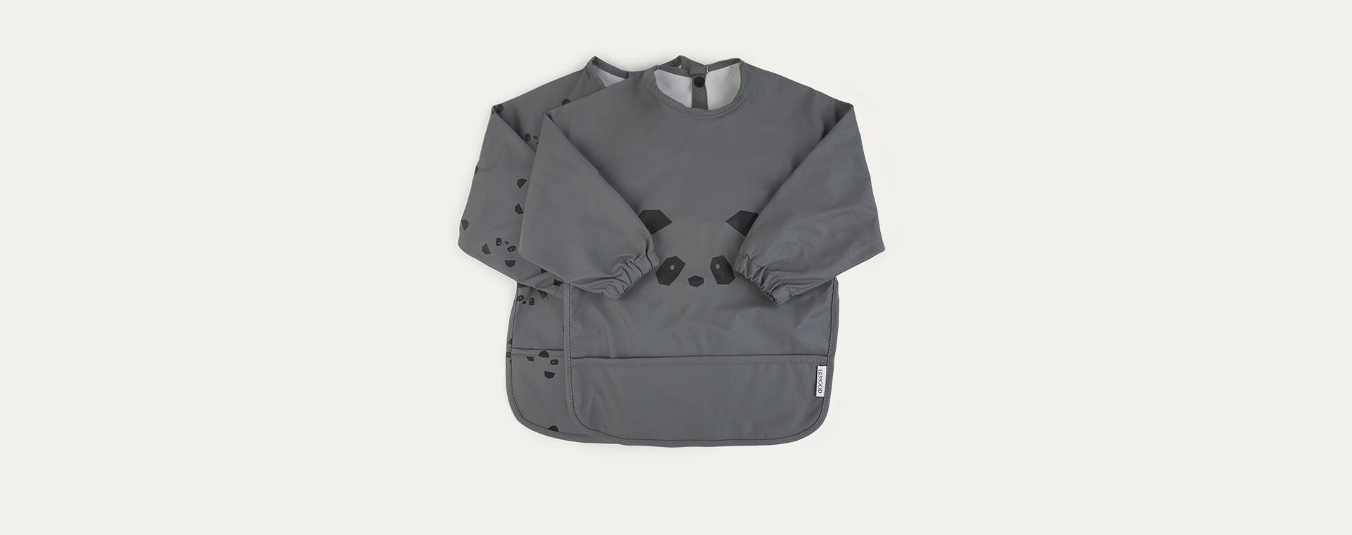 Panda stone grey Liewood 2-Pack Merle Cape Bib