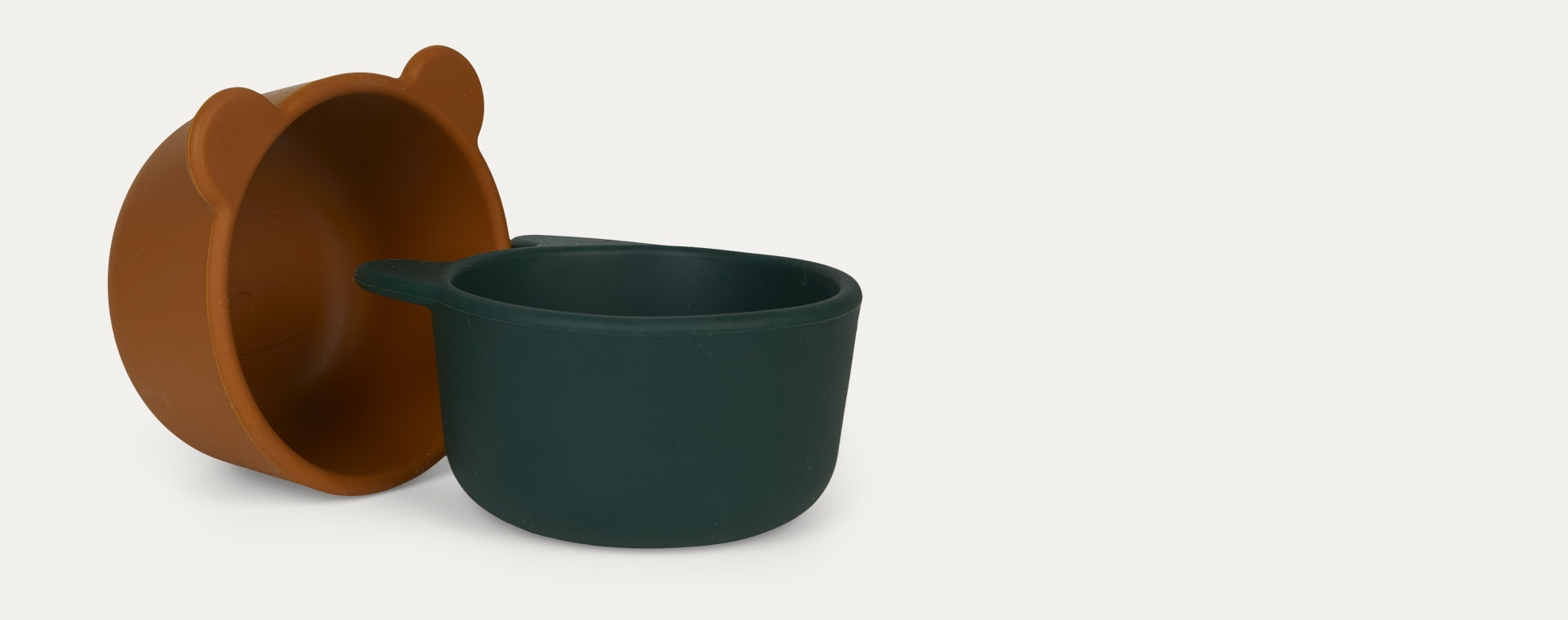Green multi mix Liewood 4-Pack Malene Silicone Snack Bowls