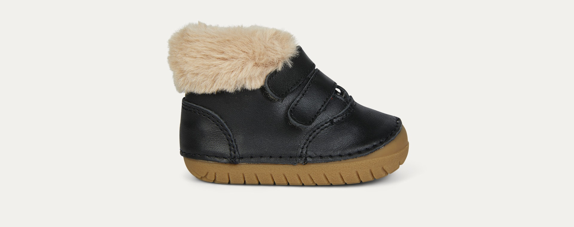Black old soles Bear Pave Fur Lined Boot