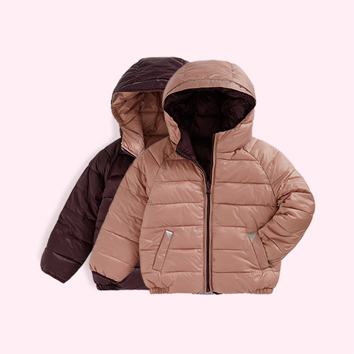 Black Cherry Töastie Kids Eco Reversible Puffer