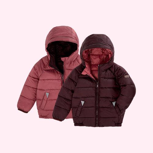 Black Cherry / Rose Pink Töastie Kids Eco Reversible Puffer