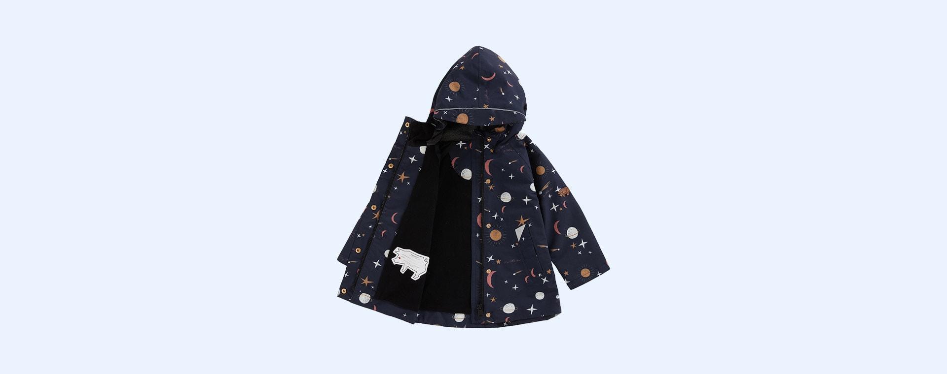 Evening Star Print Töastie Recycled Waterproof Raincoat