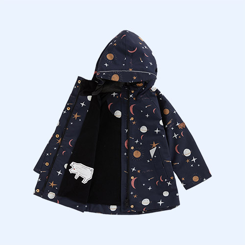 Evening Star Print Töastie Recycled Waterproof Raincoat