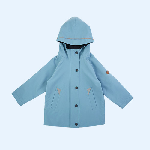 Rain Blue Töastie Kids Recycled Waterproof Raincoat