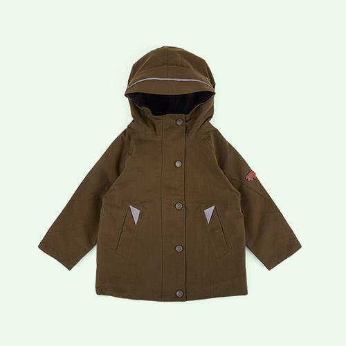 Olive Töastie Kids Recycled Waterproof Raincoat