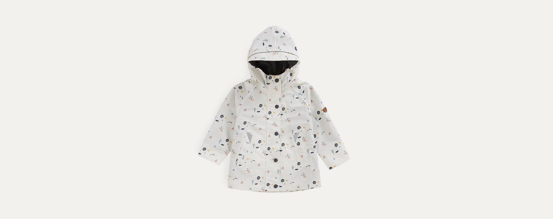 Coastal Woodland Print Töastie Kids Recycled Waterproof Raincoat