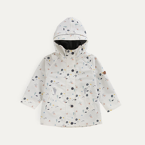 Coastal Woodland Print Töastie Kids Recycled Waterproof Raincoat