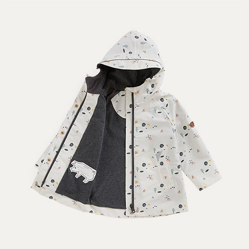 Coastal Woodland Print Töastie Recycled Waterproof Raincoat