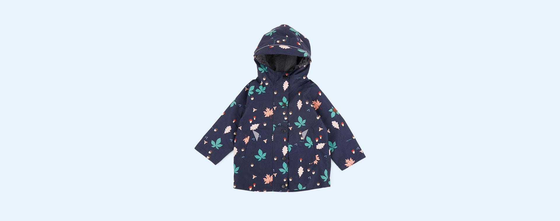 Wild Woodland Print Töastie Kids Recycled Waterproof Raincoat