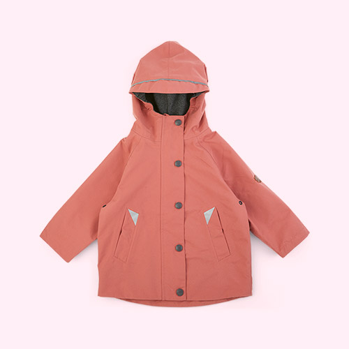 Rose Pink Töastie Kids Recycled Waterproof Raincoat