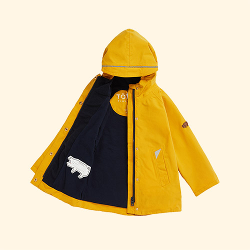Fisherman Yellow Töastie Recycled Waterproof Raincoat