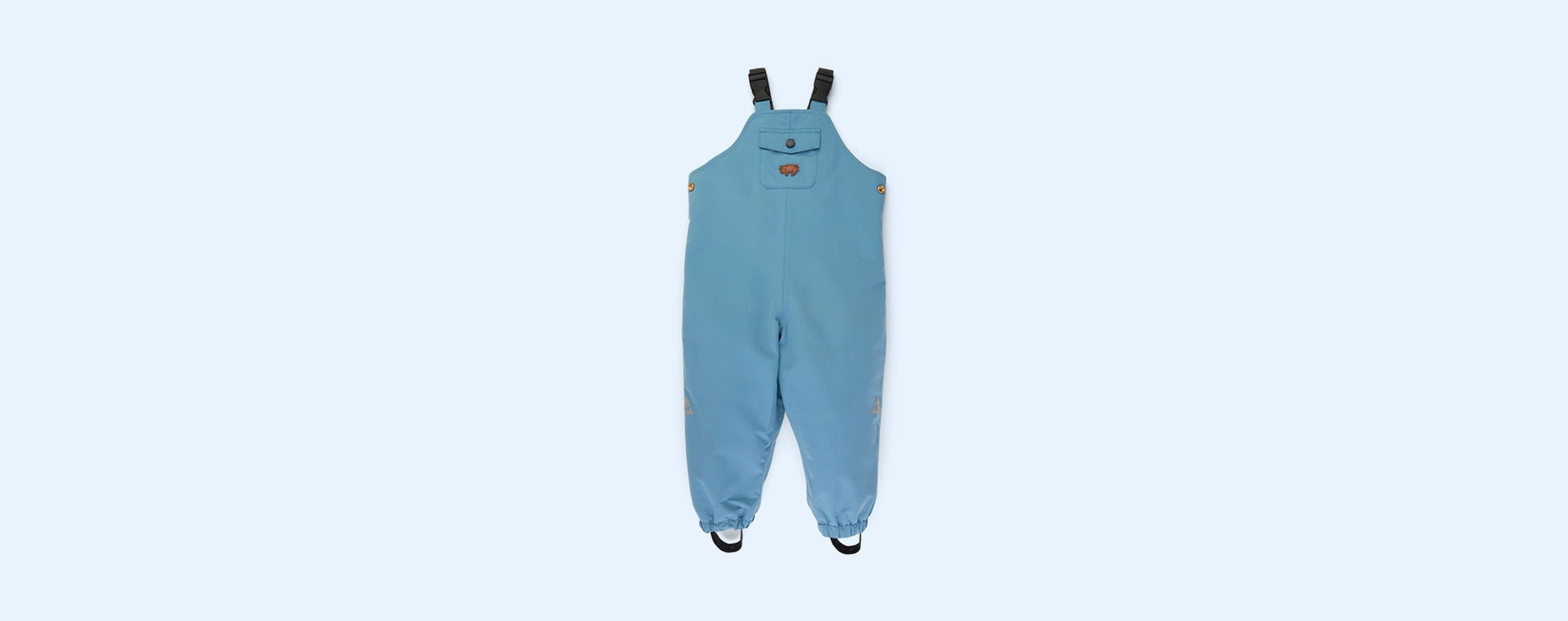Rain Blue Töastie Kids Recycled Waterproof Dungarees