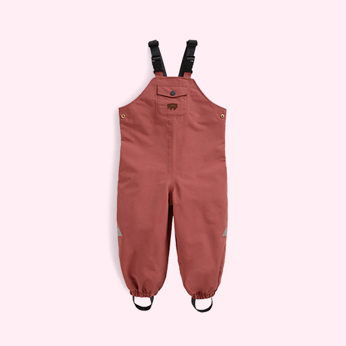 Rose Pink Töastie Kids Recycled Waterproof Dungarees
