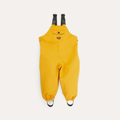 Fisherman Yellow Töastie Kids Recycled Waterproof Dungarees