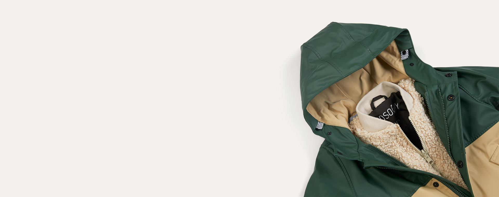 Forest/Sand GOSOAKY 3-in 1 Reservoir Dogs Waterproof Coat & Bomber Jacket