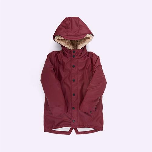 Red/ Teddy GOSOAKY 3-in-1 Snake Pit Waterproof Coat & Hooded Jacket