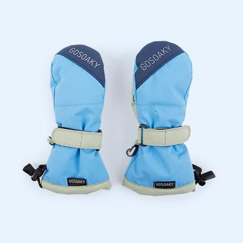 Bonny Blue/ True Blue GOSOAKY Sheep Shaun Unisex Ski Mittens