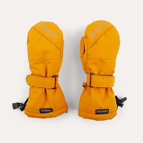 Golden Yellow GOSOAKY Sheep Shaun Unisex Ski Mittens