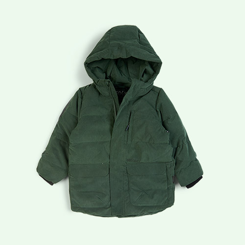 Green Forest GOSOAKY Tiger Eye Unisex Puffer Jacket