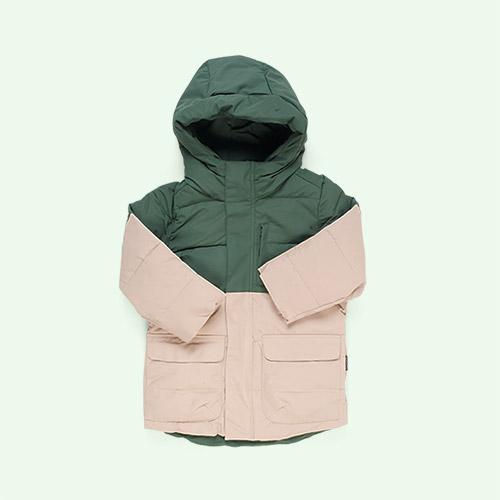 Green Forest/Warm Sand GOSOAKY Tiger Eye Unisex Puffer Jacket