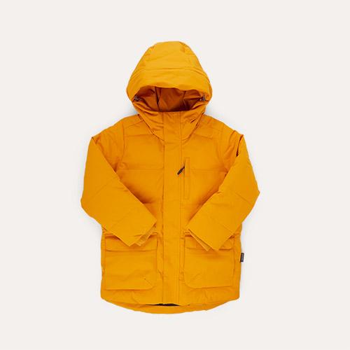 Golden Yellow GOSOAKY Tiger Eye Unisex Puffer Jacket