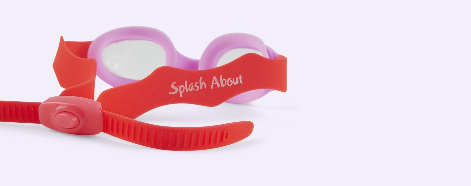 Pink Splash About Guppy Goggles