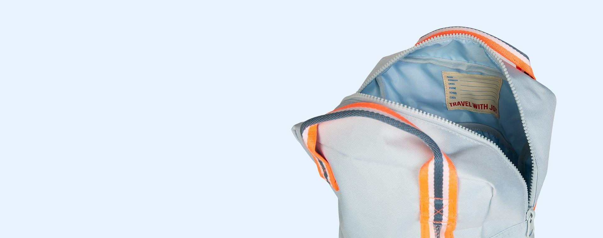 Light Blue Engel Medium Zipper Backpack