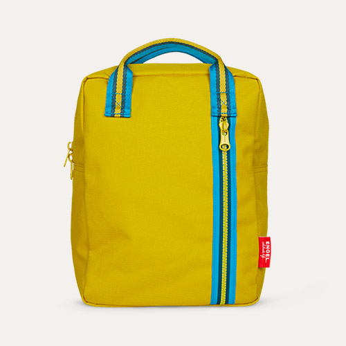 Mustard Engel Medium Zipper Backpack