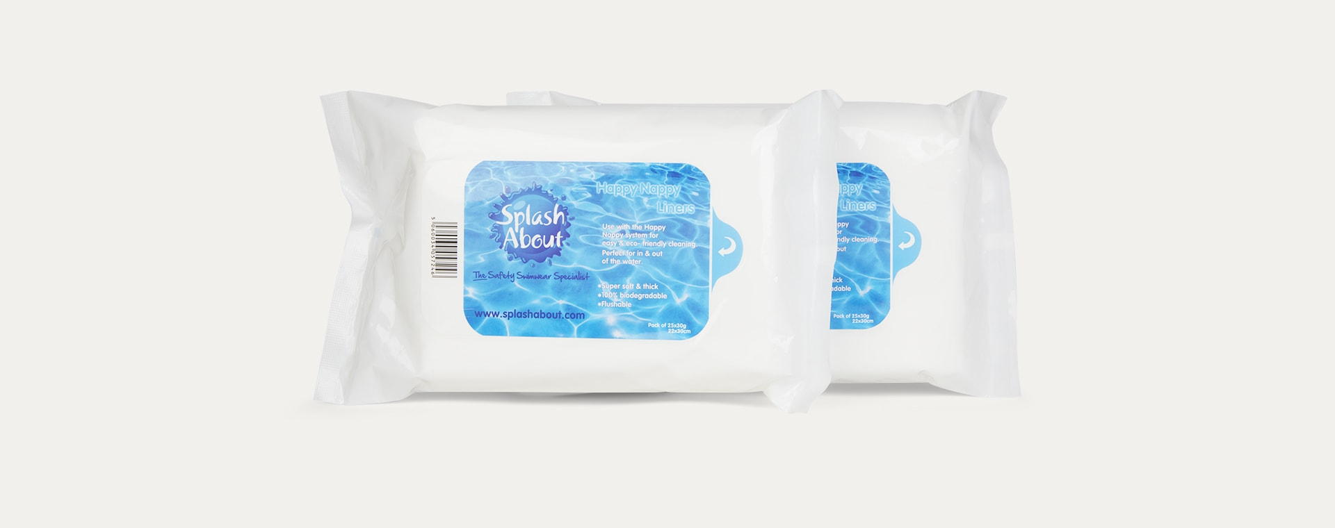 White Splash About Happy Liners Double Pack