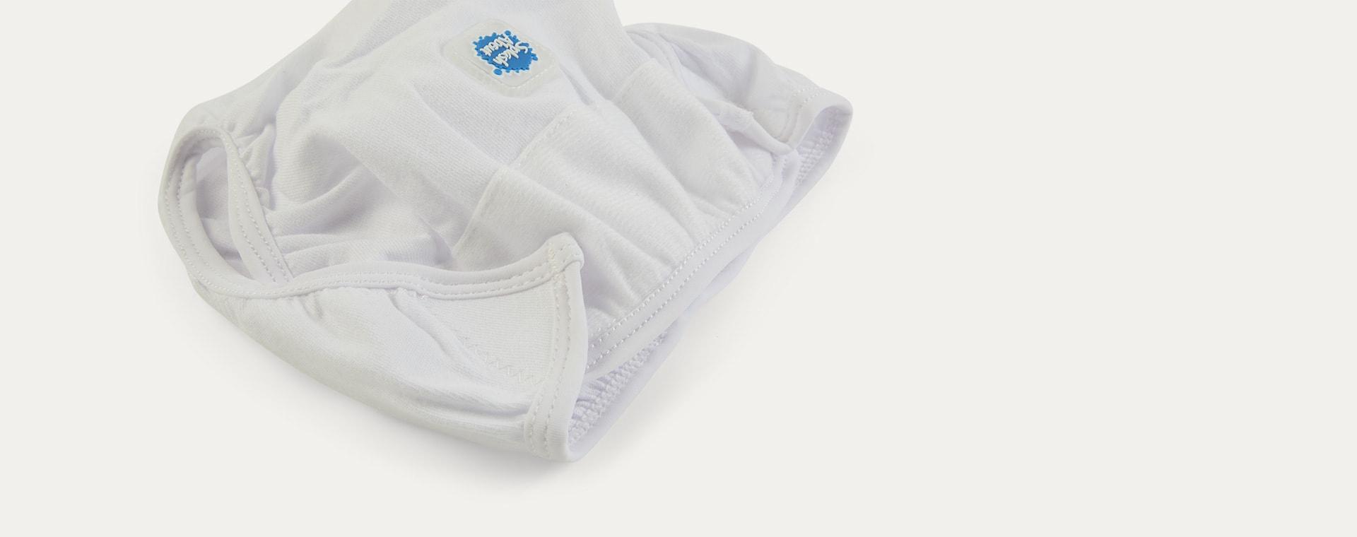 White Splash About Nappy Wrap