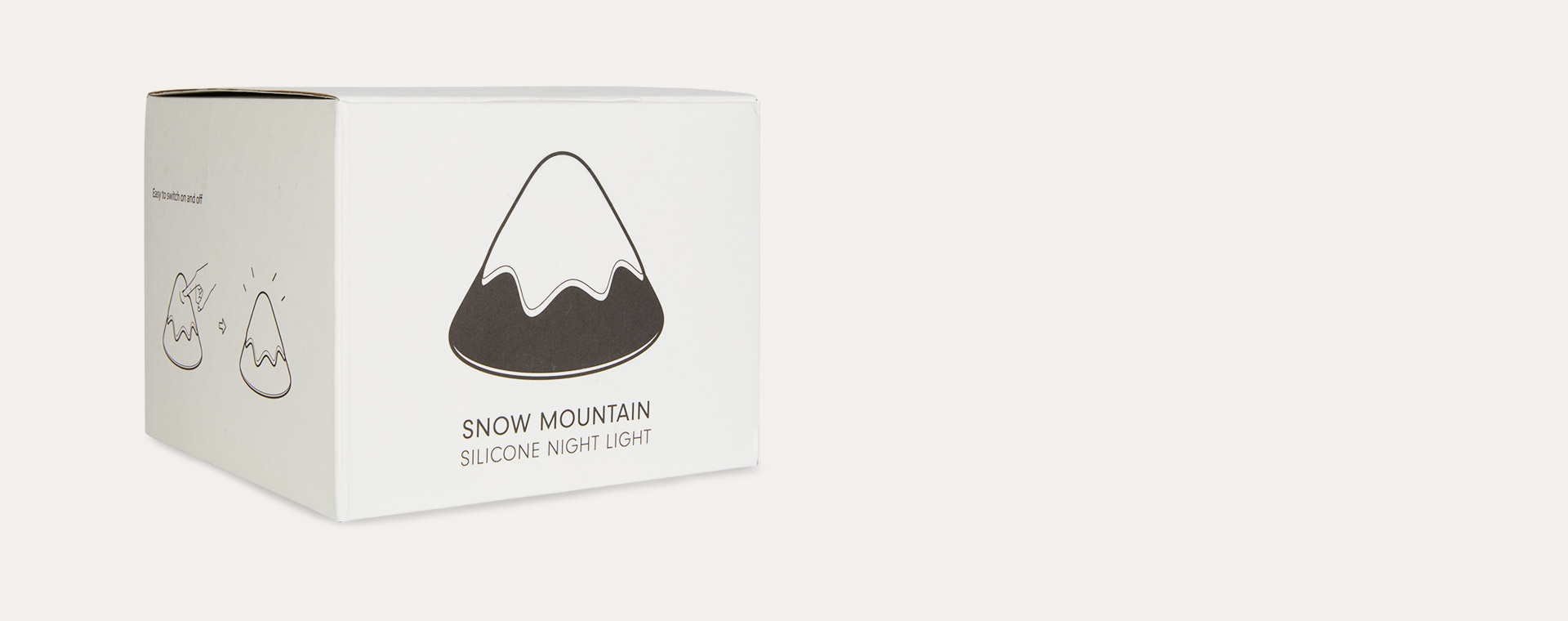 Grey Avery Row Snow Mountain Silicone Night Light
