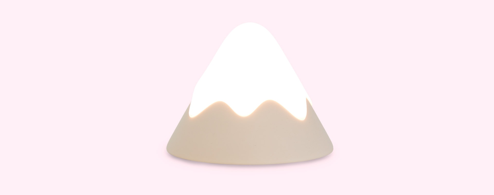 Dusty Pink Avery Row Snow Mountain Silicone Night Light