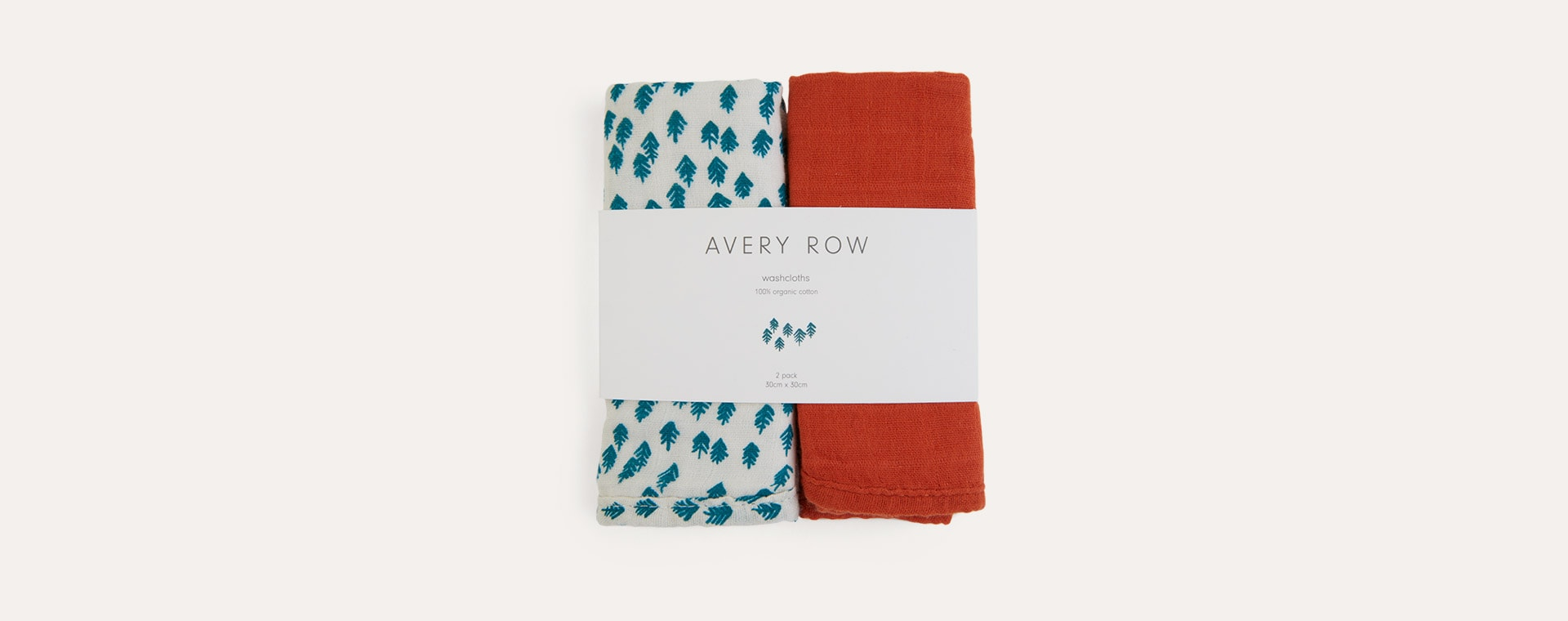 Nordic Forest Avery Row 2-Pack Muslin Washcloths