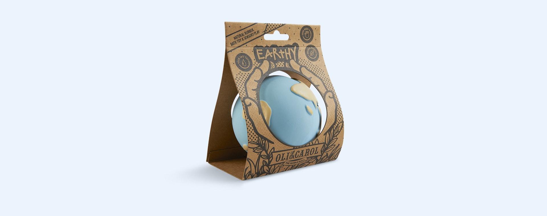 Blue Oli & Carol Earthy the World Ball