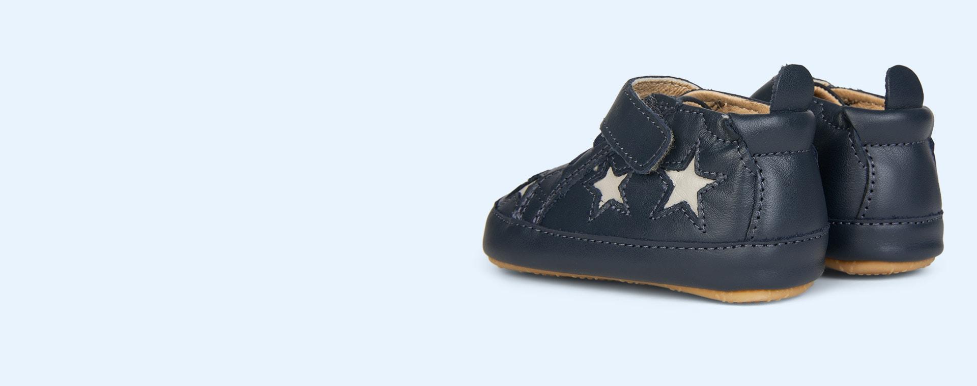 Navy Grey old soles High Splash Soft Sole Trainer