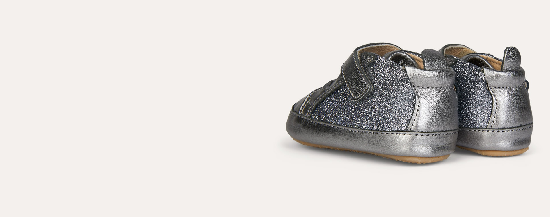 Gunmetal old soles Glam Gal Glitter Soft Sole Boot