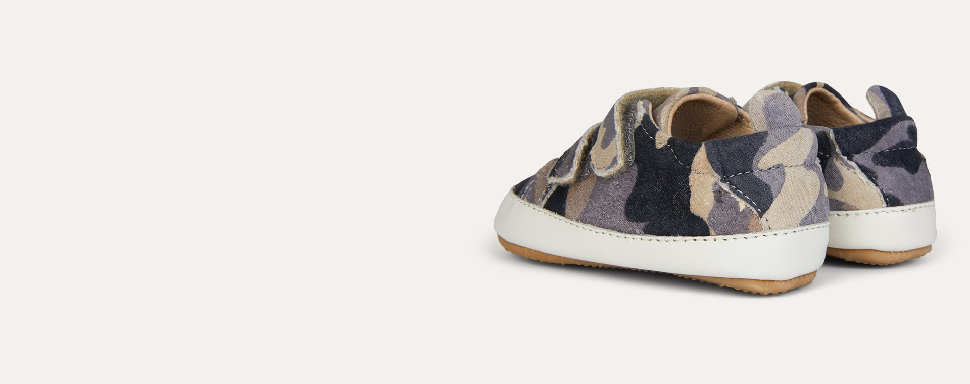 Grey Camo old soles Bambini Market Soft Sole Trainer